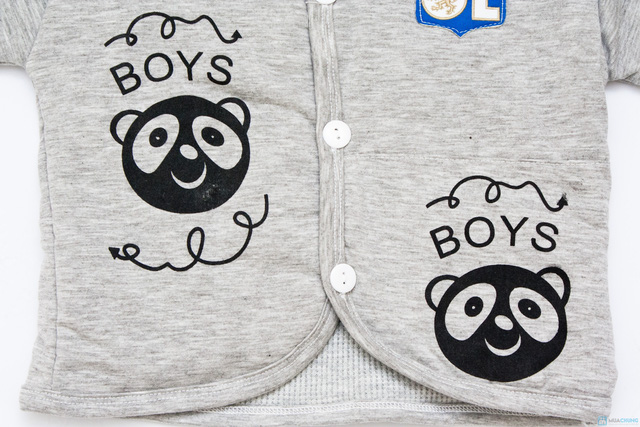 Bộ quần áo bông trần ấm áp cho bé - 5