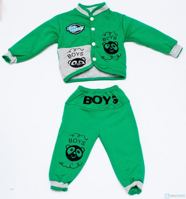 Bộ quần áo bông trần ấm áp cho bé - 1