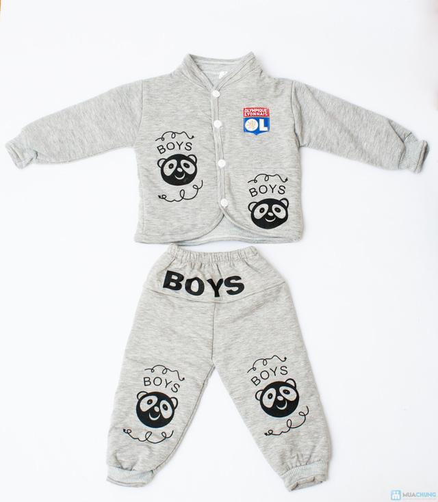 Bộ quần áo bông trần ấm áp cho bé - 3