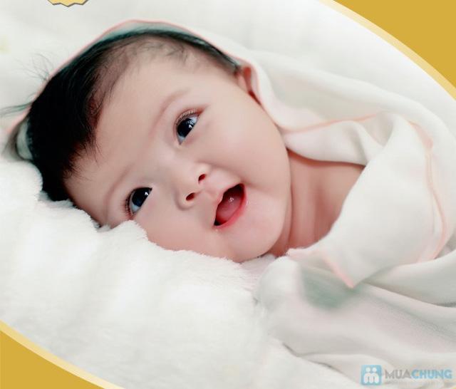 Combo 3 khăn sữa cho trẻ sơ sinh loại 4 lớp - - 1
