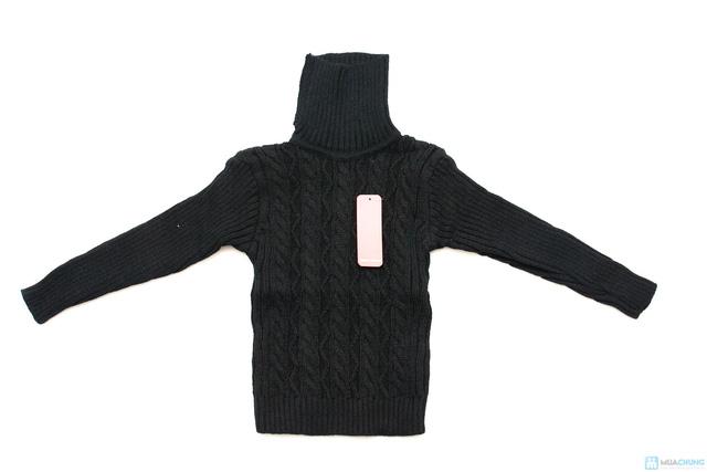 Áo len cổ lọ cho bé - 1