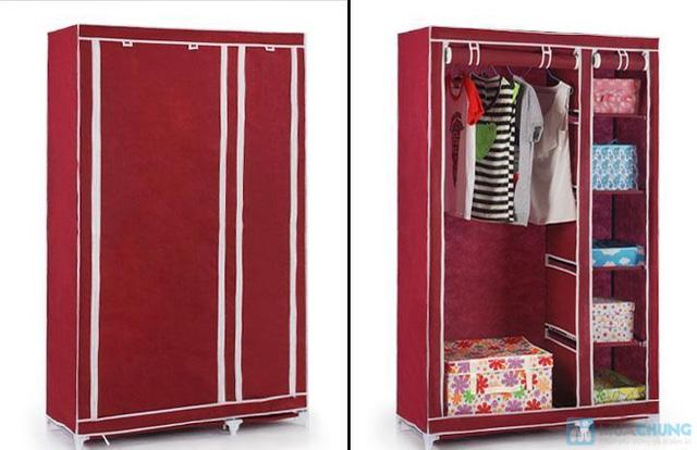 Tủ vải đựng quần áo cao cấp - 1