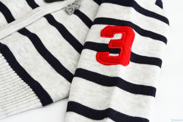 Áo len mũ kéo khóa cho bé - 5