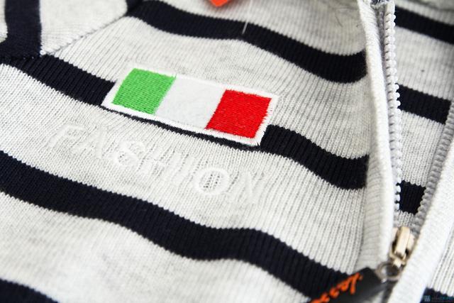 Áo len mũ kéo khóa cho bé - 3
