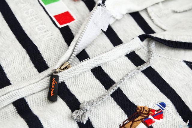 Áo len mũ kéo khóa cho bé - 2