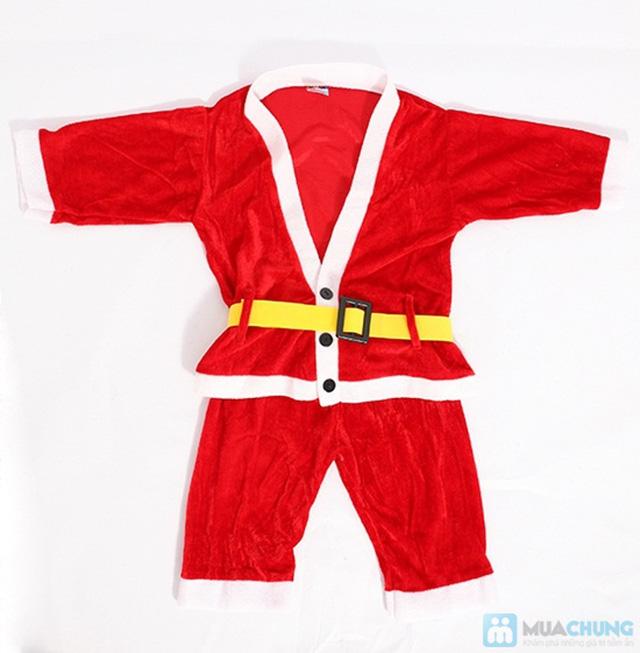 Bộ quần áo ông già Noel bằng vải nhung cho bé vui Giáng sinh - Chỉ 77.000đ/01 bộ - 1