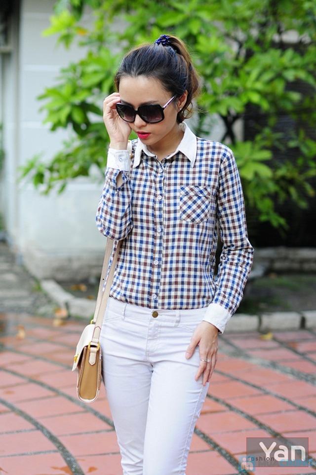 Tự tin khoe cá tính với áo sơ mi nữ sọc caro Yan Fashion - Chỉ 129.000đ/01 Chiếc - 4