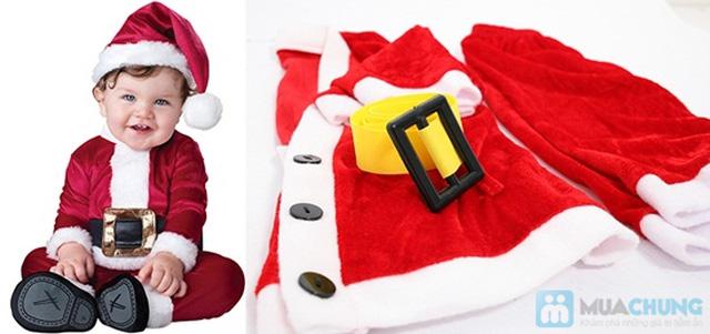 Bộ quần áo ông già Noel bằng vải nhung cho bé vui Giáng sinh - Chỉ 77.000đ/01 bộ - 5