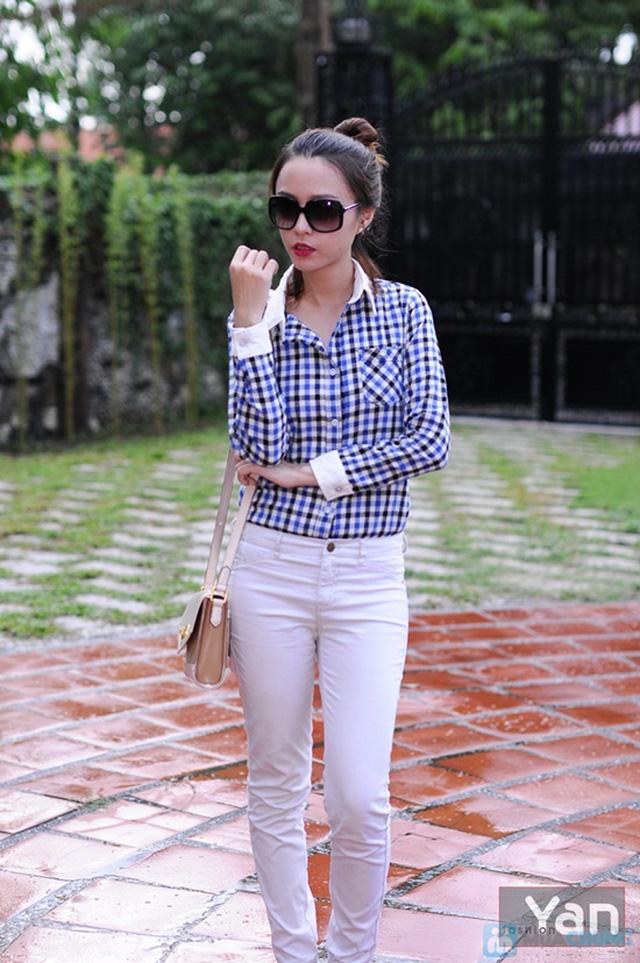 Tự tin khoe cá tính với áo sơ mi nữ sọc caro Yan Fashion - Chỉ 129.000đ/01 Chiếc - 2