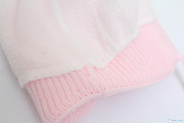 Mũ len hình thú có quai ấm áp cho bé - 6