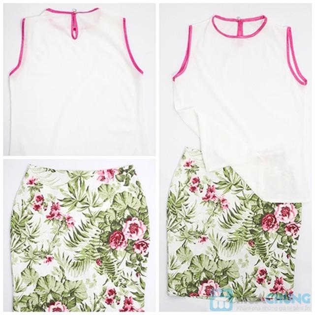 Bộ váy nữ gồm: chân váy bút chì + áo voan - Chỉ 175.000đ - 6