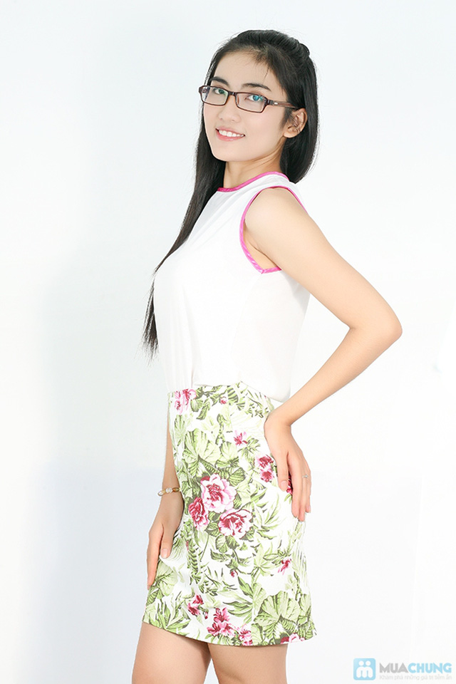 Bộ váy nữ gồm: chân váy bút chì + áo voan - Chỉ 175.000đ - 5