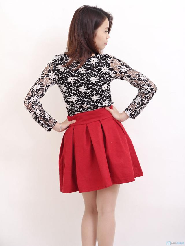 Chân váy dạ xòe Hàn Quốc - Chỉ với 145.000đ - 9
