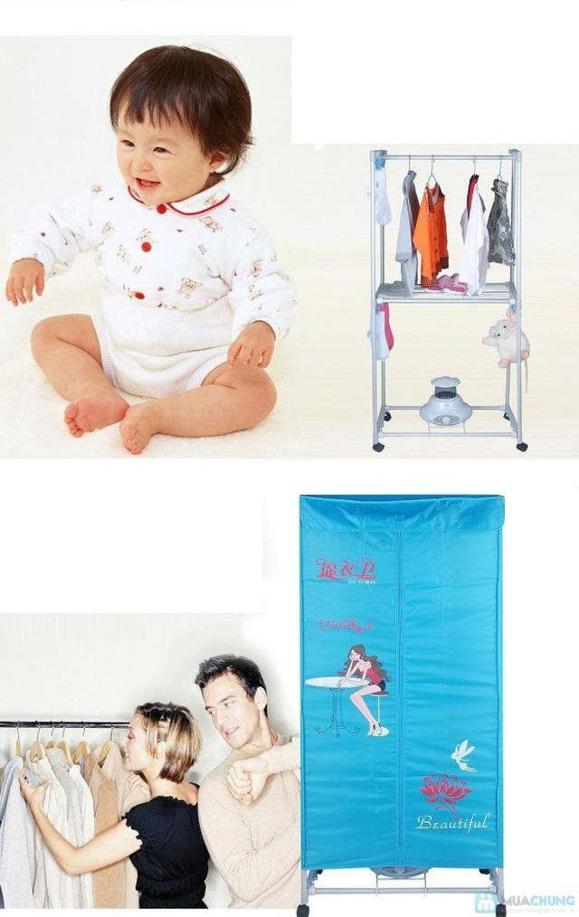 Tủ sấy quần áo khung thép hình chữ nhật - Loại 2 tầng - Tiện lợi và hiện đại - 4