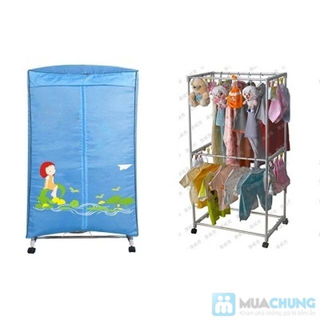 Tủ sấy quần áo khung thép hình chữ nhật - Loại 2 tầng - Tiện lợi và hiện đại - 2