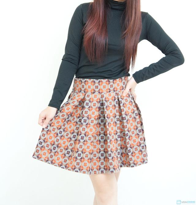 Chân váy dạ xòe Hàn Quốc - Chỉ với 145.000đ - 1