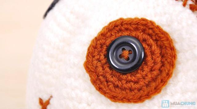 Mũ len hình con vật móc tay cho bé - 2
