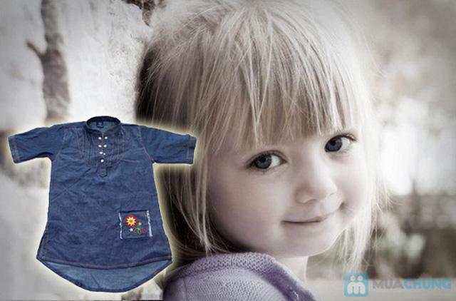 Đầm giả jeans cho bé gái - Chỉ 79.000đ - 9