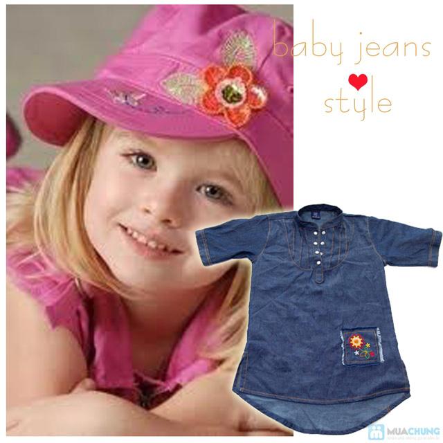 Đầm giả jeans cho bé gái - Chỉ 79.000đ - 10
