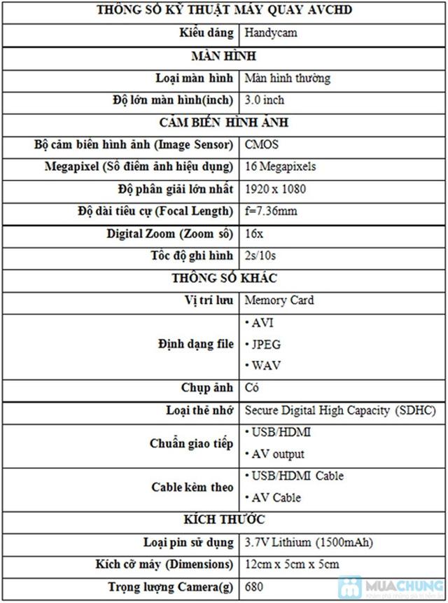 Phiếu mua Máy Quay Phim HD 720P - Chỉ 240.000đ được phiếu 2.400.000đ - 1