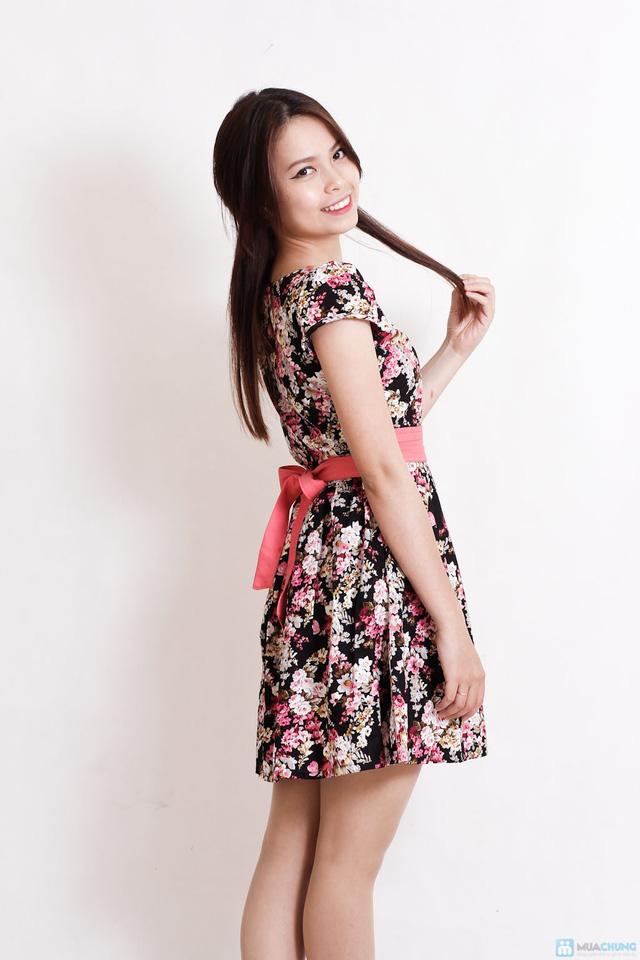 Váy hoa dịu dàng xếp ly - 7