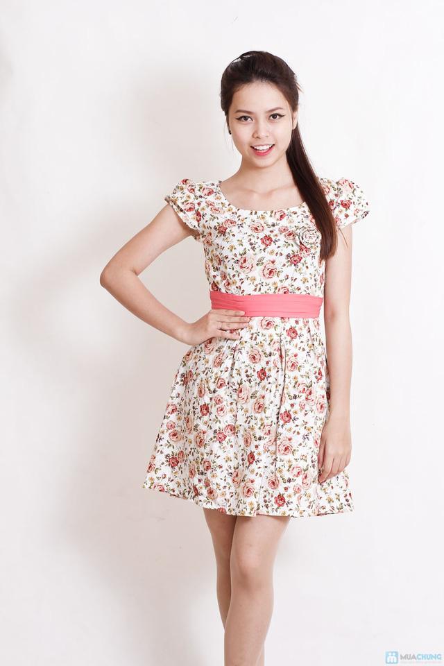 Váy hoa dịu dàng xếp ly - 1