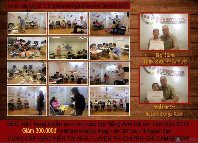 Học TOEIC / Tiếng Anh Giao Tiếp /Tiếng Anh trẻ em với GV nước ngoài tại BEC - 2