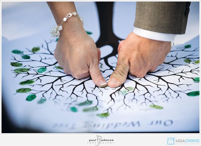 Voucher đặt bộ Khung tranh wedding tree in dấu vân tay hoặc chữ ký - 1