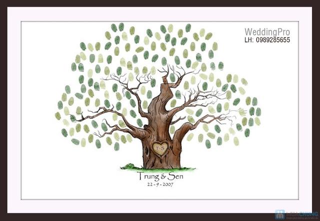 Voucher đặt bộ Khung tranh wedding tree in dấu vân tay hoặc chữ ký - 10