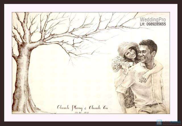 Voucher đặt bộ Khung tranh wedding tree in dấu vân tay hoặc chữ ký - 9
