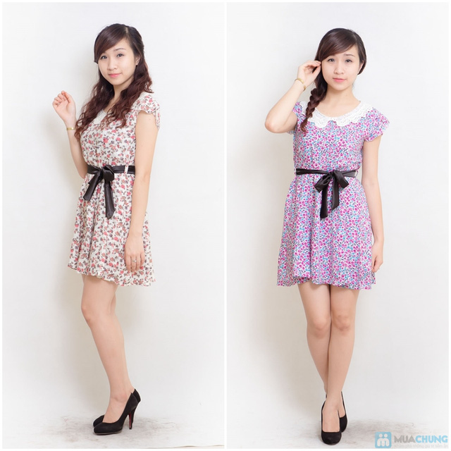 Combo 02 váy lanh có đai - 10