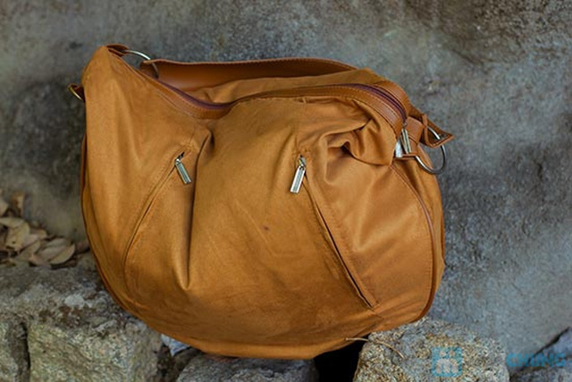 Túi xách da lộn dạng lớn - 3