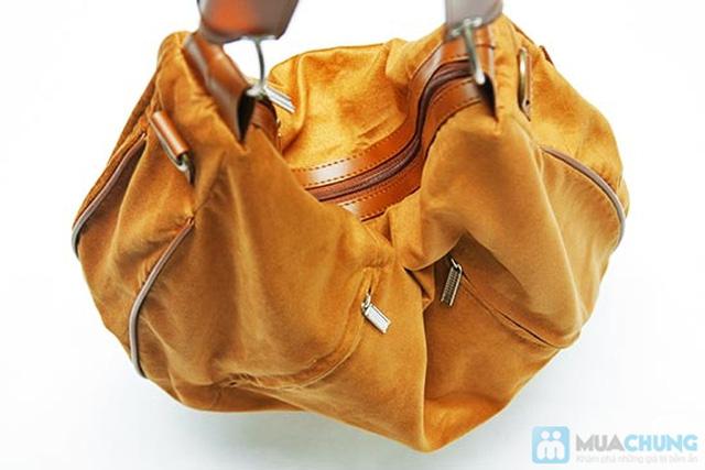 Túi xách da lộn dạng lớn - 7