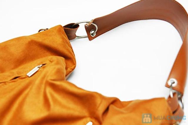Túi xách da lộn dạng lớn - 5