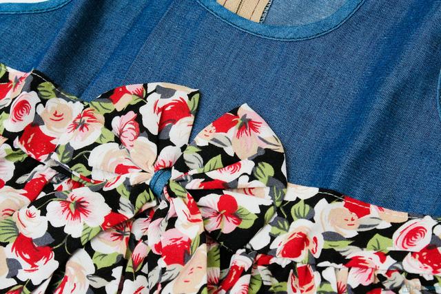 Váy denim pha lanh cho bé gái - 4