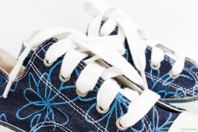 Giầy vải bò buộc dây họa tiết hoa ( Hàng VN xuất khẩu) - 10