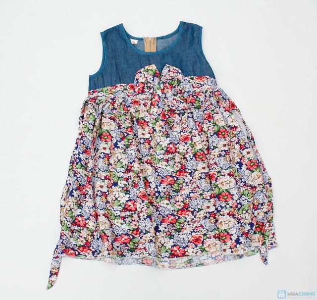 Váy denim pha lanh cho bé gái - 7