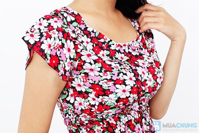 Đầm hoa vải lanh có cổ - Chỉ 85.000đ/chiếc - 5