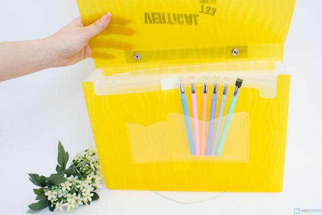 Combo Cặp tài liệu FolderMate+Bộ 6 bút ILU Pen Art - 5
