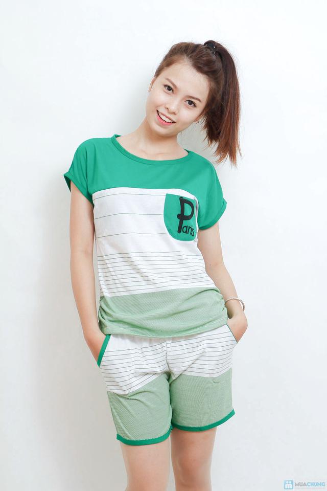Combo 02 bộ mặc nhà kiểu dáng thể thao cho bạn gái - 6
