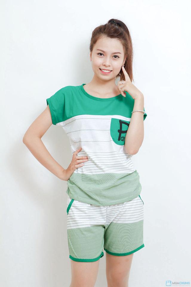 Combo 02 bộ mặc nhà kiểu dáng thể thao cho bạn gái - 5