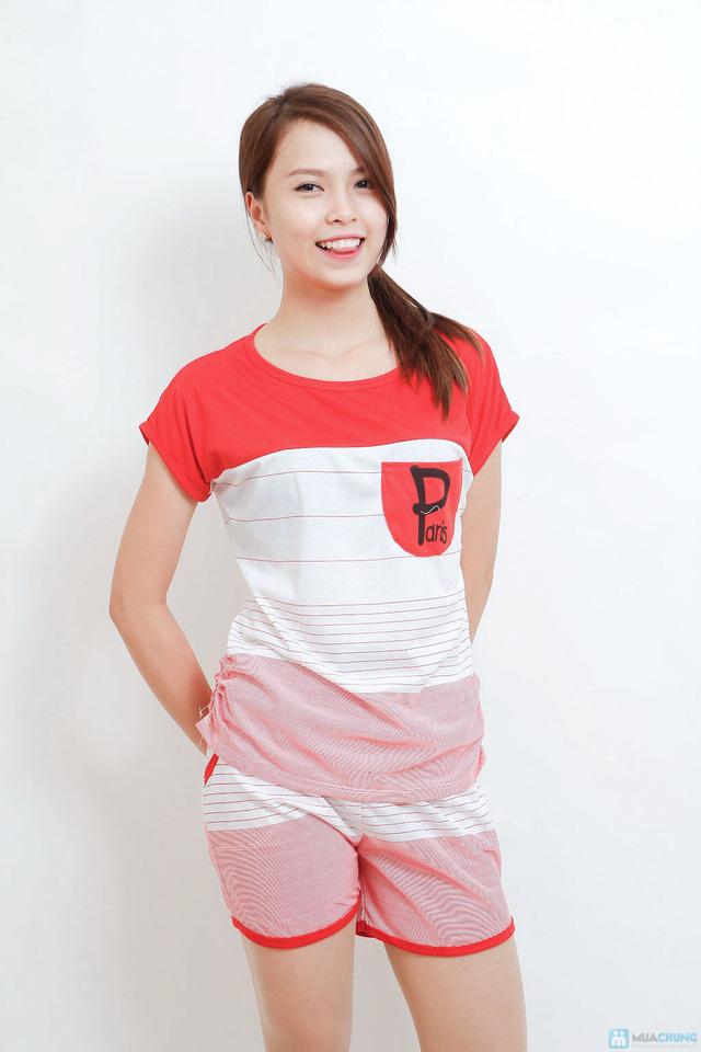 Combo 02 bộ mặc nhà kiểu dáng thể thao cho bạn gái - 9