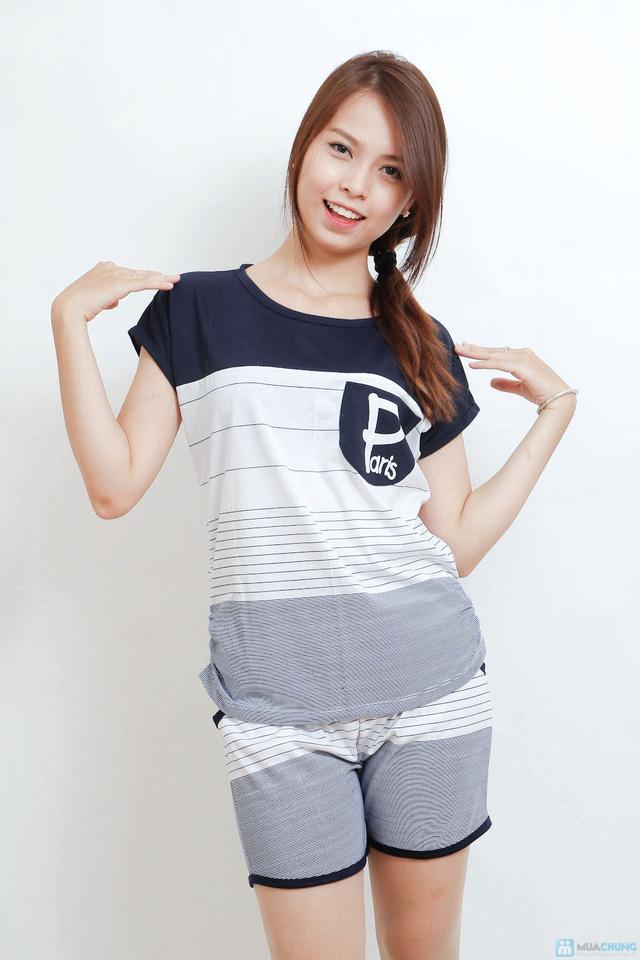 Combo 02 bộ mặc nhà kiểu dáng thể thao cho bạn gái - 1