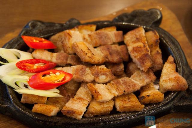 Set ăn: thịt ba chỉ nướng + kim bắp + 6 món phụ cho 2 người tại nhà hàng Sườn Nướng Hàn Quốc - Chỉ 138.000đ - 3