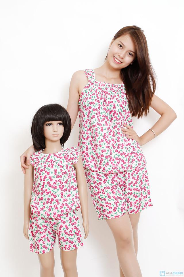 combo 2 bộ quần áo vải lanh cho mẹ và bé - 2