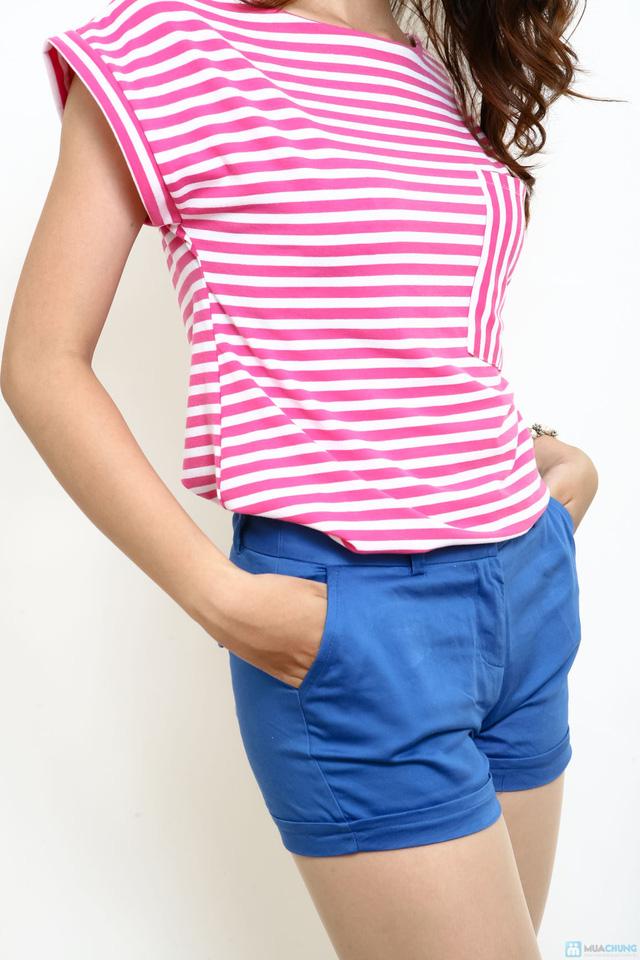 Áo cotton kẻ ngang - Phong cách cực xinh ngày hè - 6