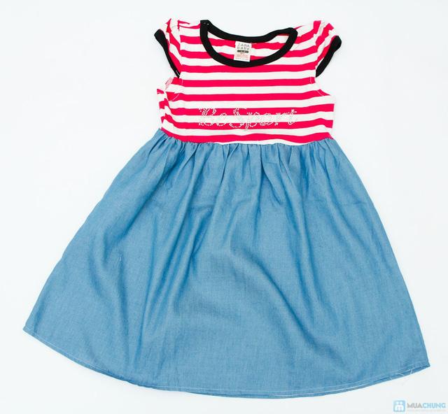 váy thun denim cho bé - 5
