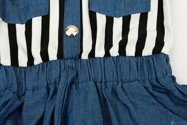 váy thu denim cách điệu cho bé gái - 6