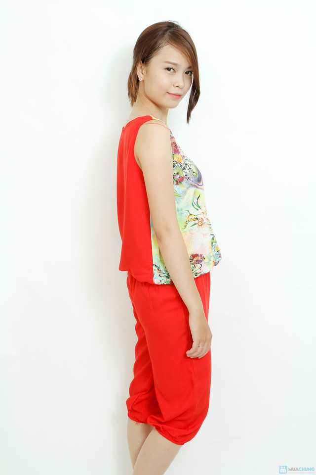 Bộ quần áo lanh 3D sát nách kiểu dáng Alibaba - 6