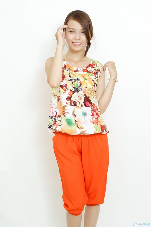 Bộ quần áo lanh 3D sát nách kiểu dáng Alibaba - 10